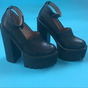 Jeffrey Campbell platform Mary Janes